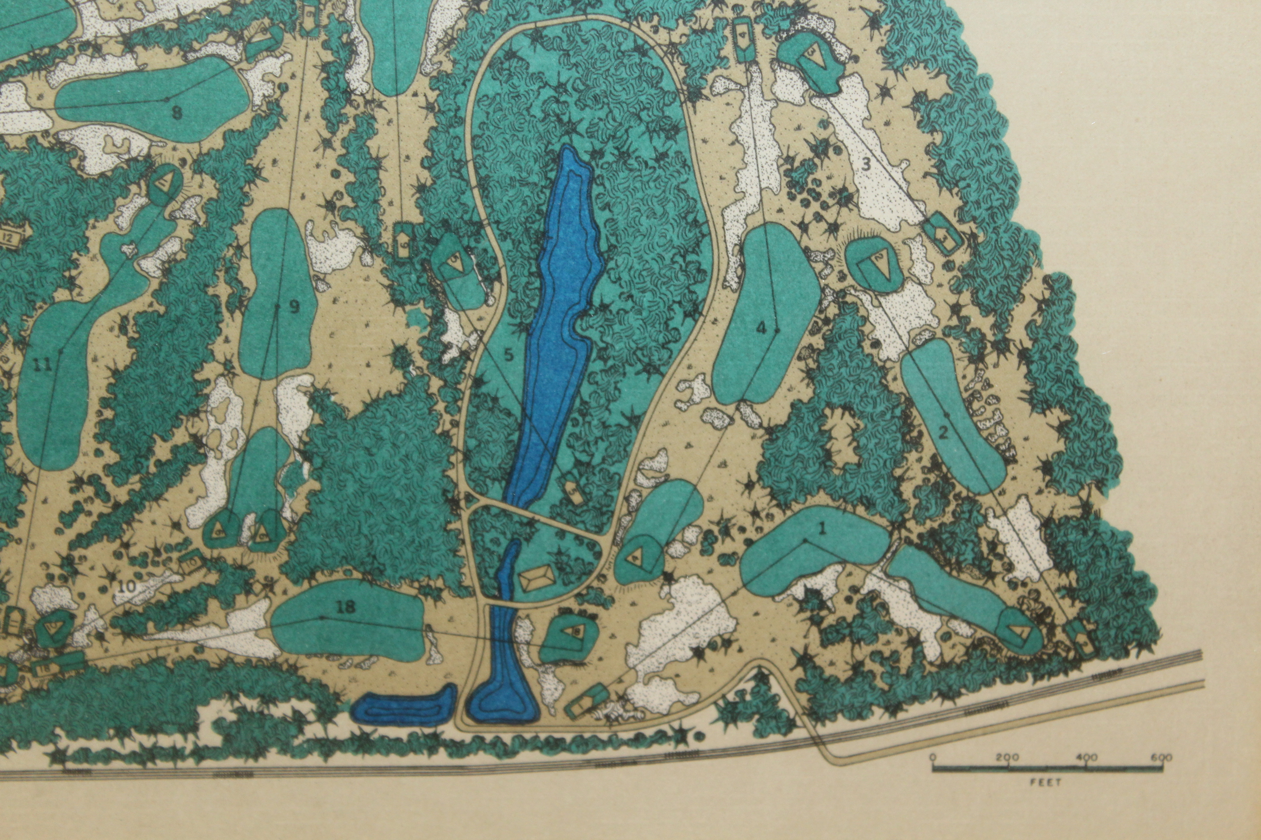 Lot Detail - Pine Valley Colf Glub Classic Aerial Map of ...