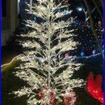 Ge Pre Lit Flocked White Valley Pine