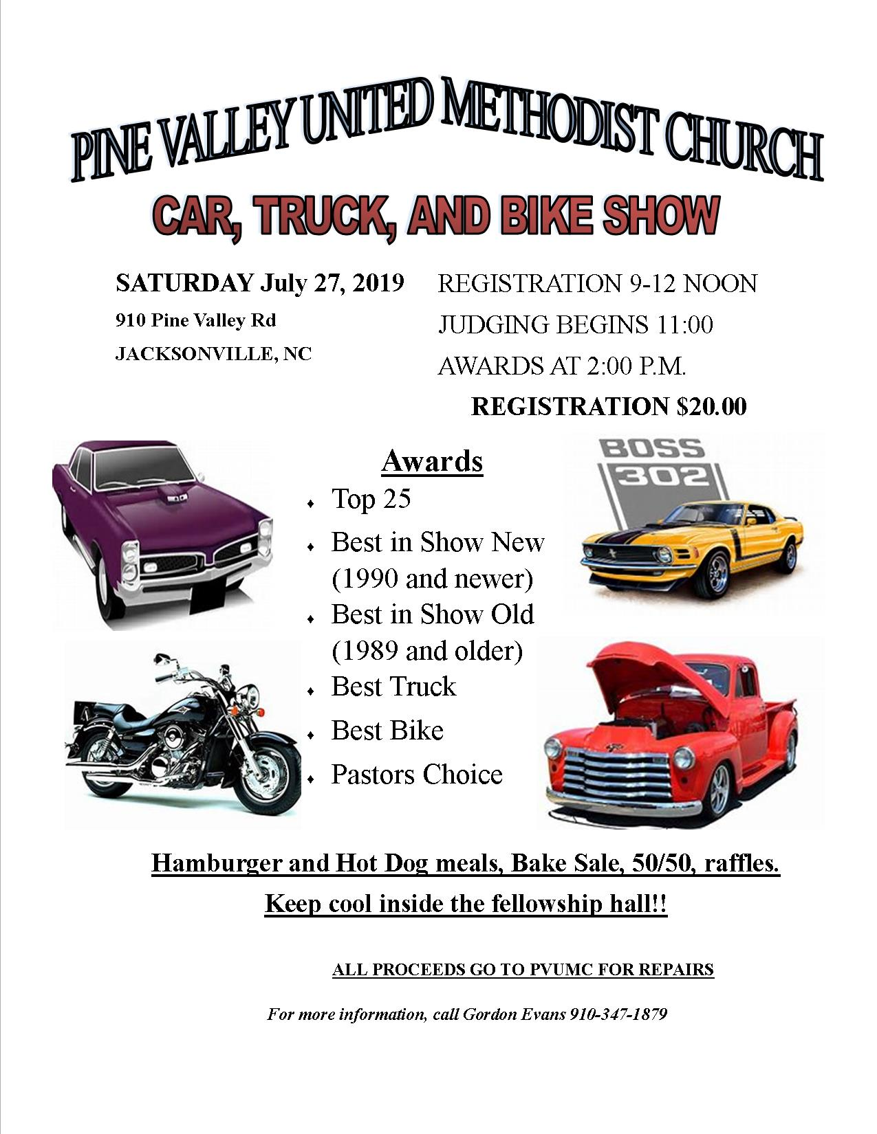 UMM - Car, Truck, and Bike show - Pine Valley United ...