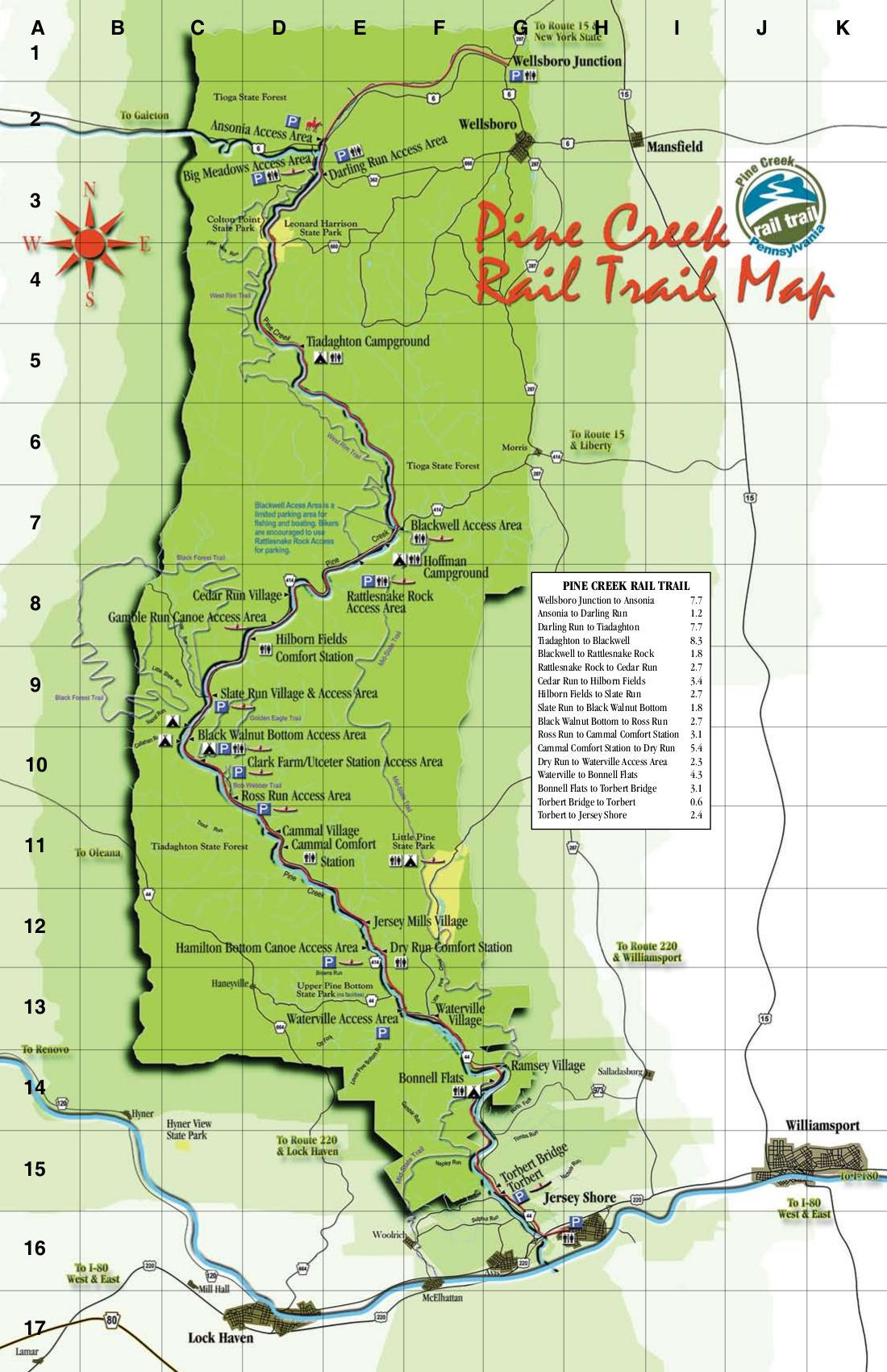 Pine Creek Rail Trail - Pine Creek Valley