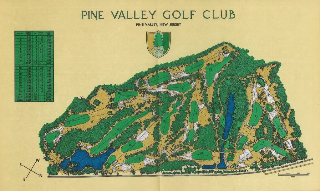 Recreation of Pine Valley Golf Club - WIP Maps - Maps ...