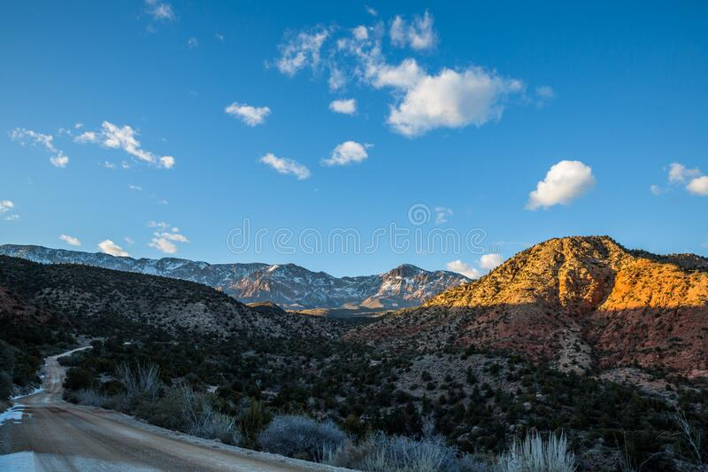 Dirt Road Into The Pine Valley Mountains Of Southern Utah ...