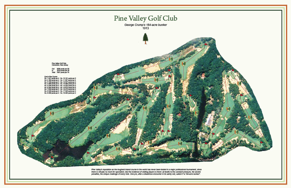 """Pine Valley Golf Club - 1913 -"""" Crump's 184 acre bunker""""-a ..."""