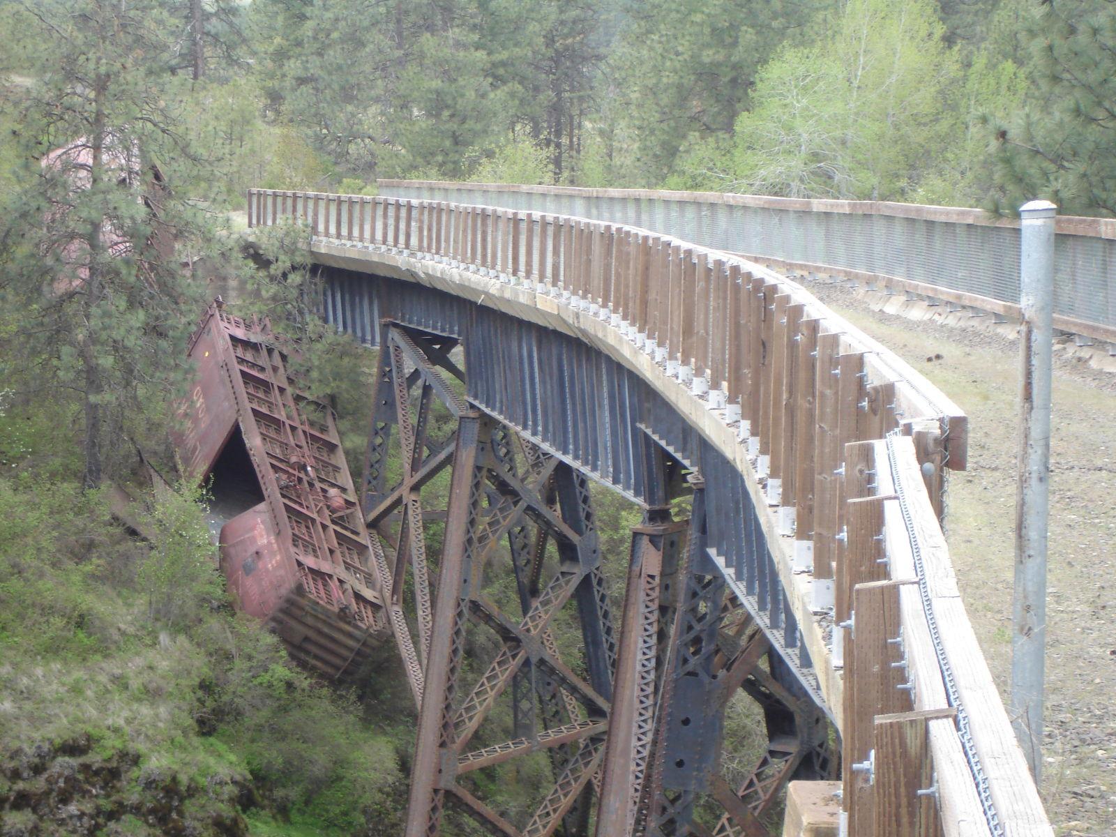 Bridgehunter.com | John Wayne Pioneer Trail - Pine Creek ...