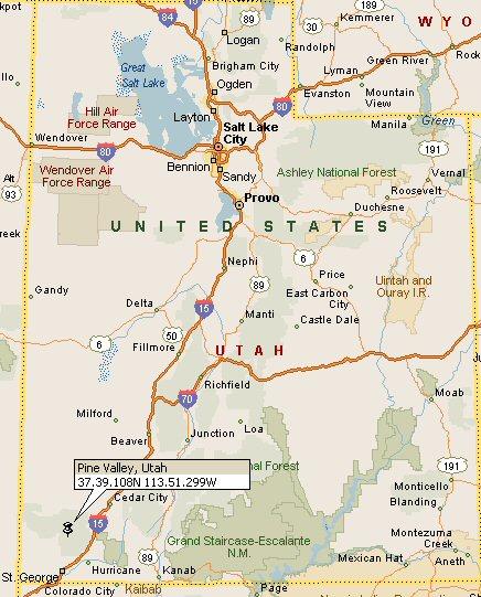 Pine Valley, Utah Map 4
