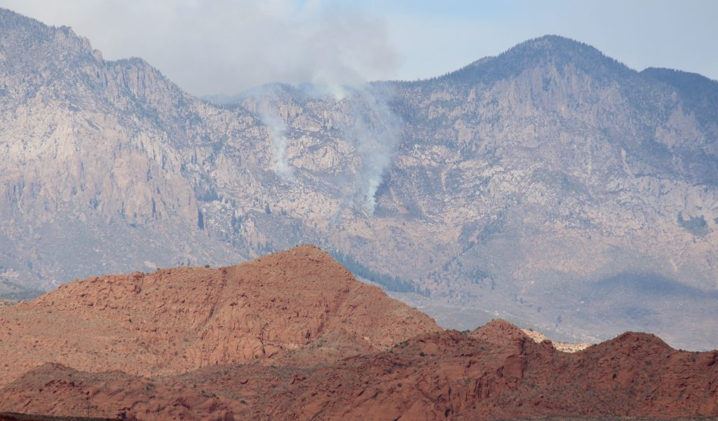 UPDATED: Fire on Pine Valley Mountain grows to 100 acres ...