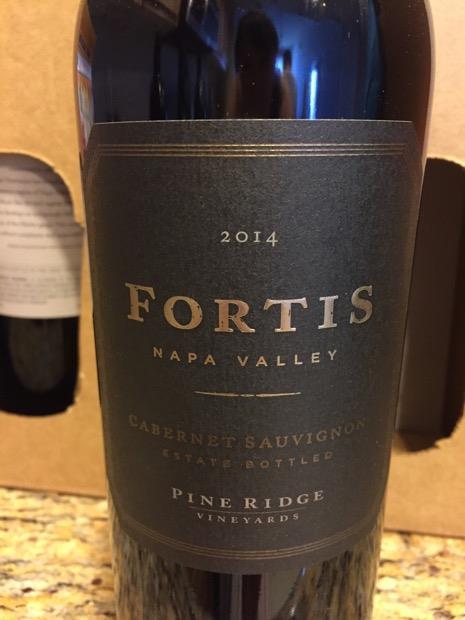 2014 Pine Ridge Vineyards Cabernet Sauvignon Fortis, USA ...