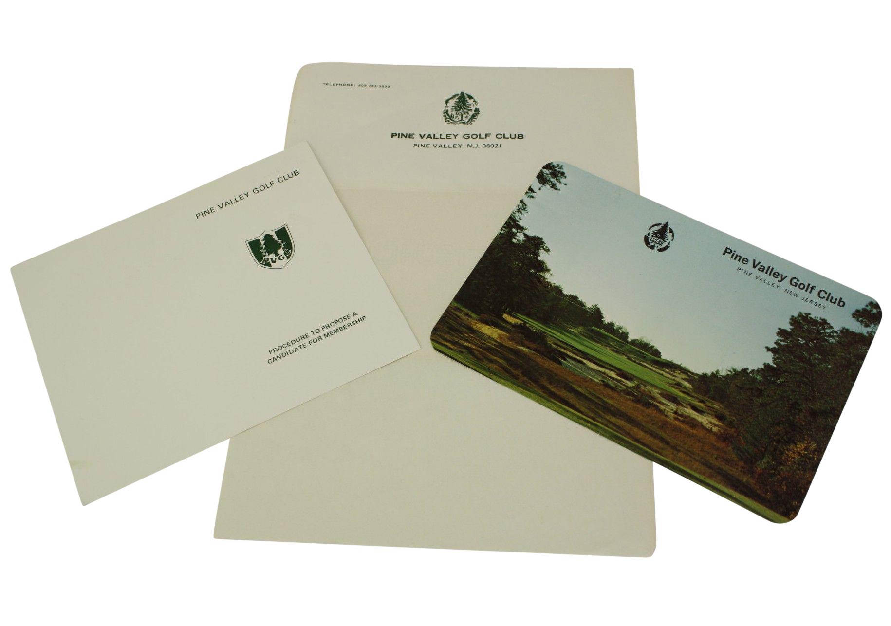 Lot Detail - Pine Valley GC Items: Scorecard, Letterhead ...