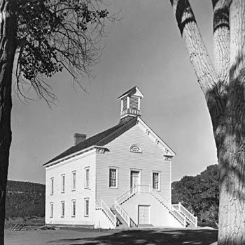 Settlers built the Pine Valley Chapel in 1868. Ebenezer ...