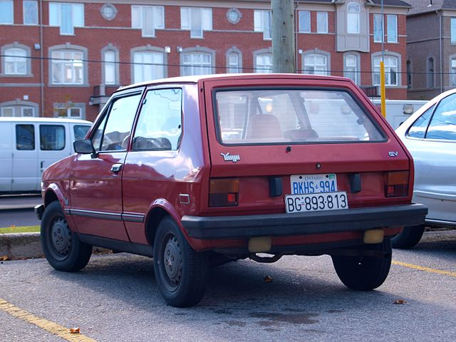 File:Yugo GV in Pine Valley Drive and Highway 7 ...