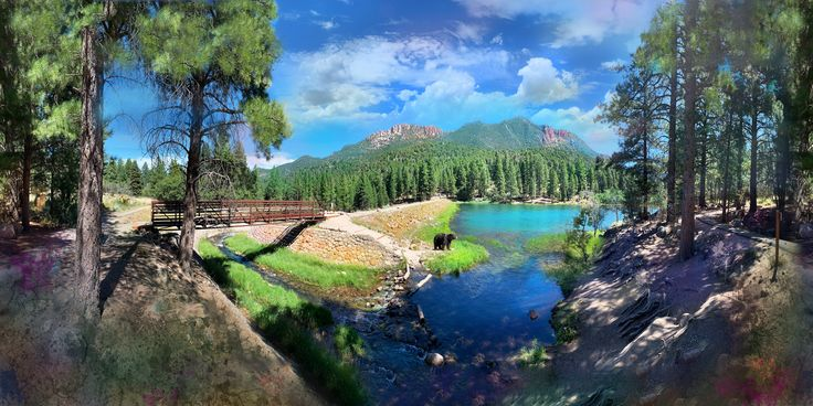 Pine Valley Panorama | Pine valley, Panorama, Red rock