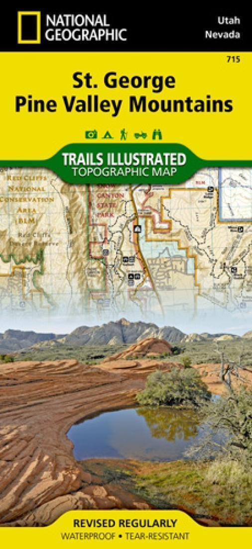 Trails Map of St George, Pine Valley Mountains (Utah ...