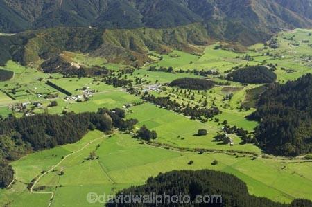 Farmland, Korimiko, Marlborough, South Island, New Zealand ...