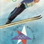Picture Of Official 1960 Squaw Valley Olympic Pin With Program