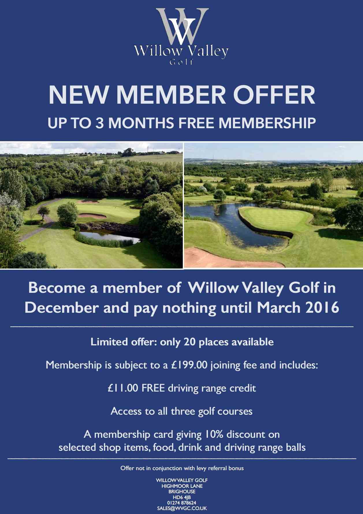 Membership Offer 15 - Willow Valley Golf Club