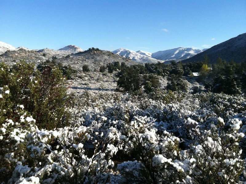 Pine Valley, CA : looking east from Pine Valley Bible Camp ...