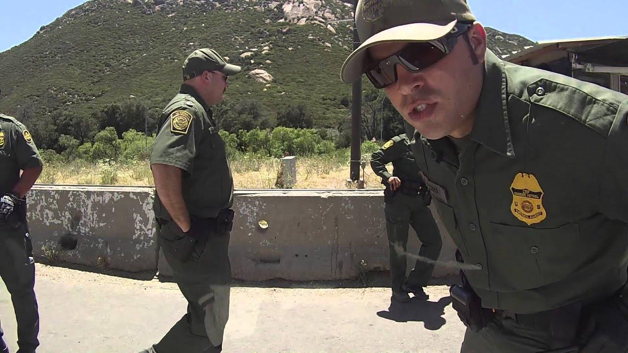 US Border Patrol Break In Driver Window Cam, Pine Valley ...