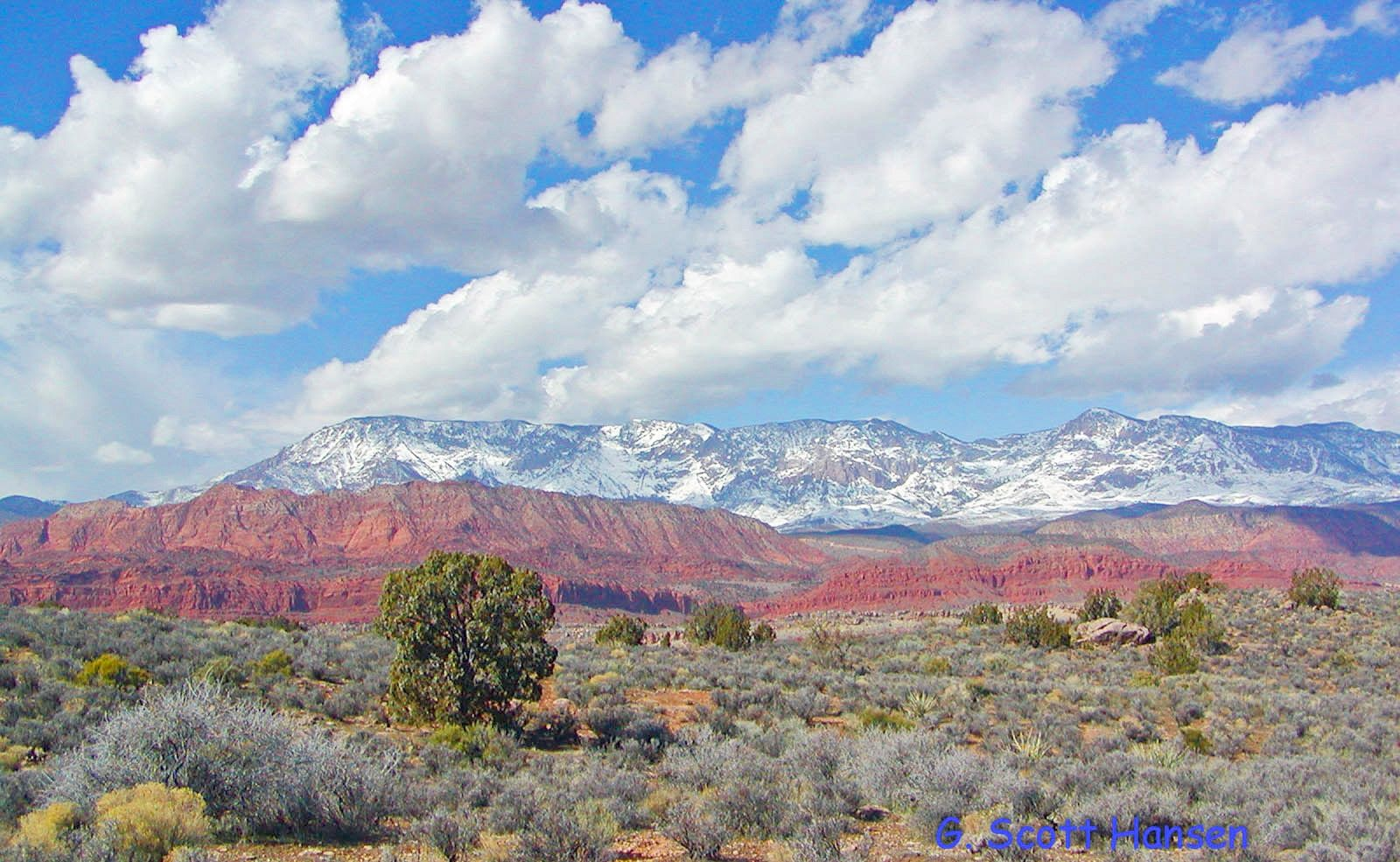 Pine Valley Mountains and the adjacent red rock canyons of ...