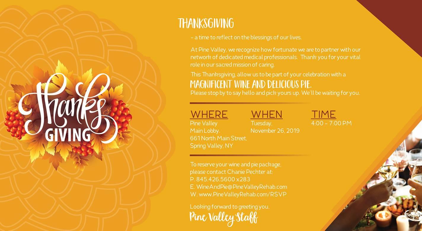 PV Thanksgiving - Pine Valley Rehab