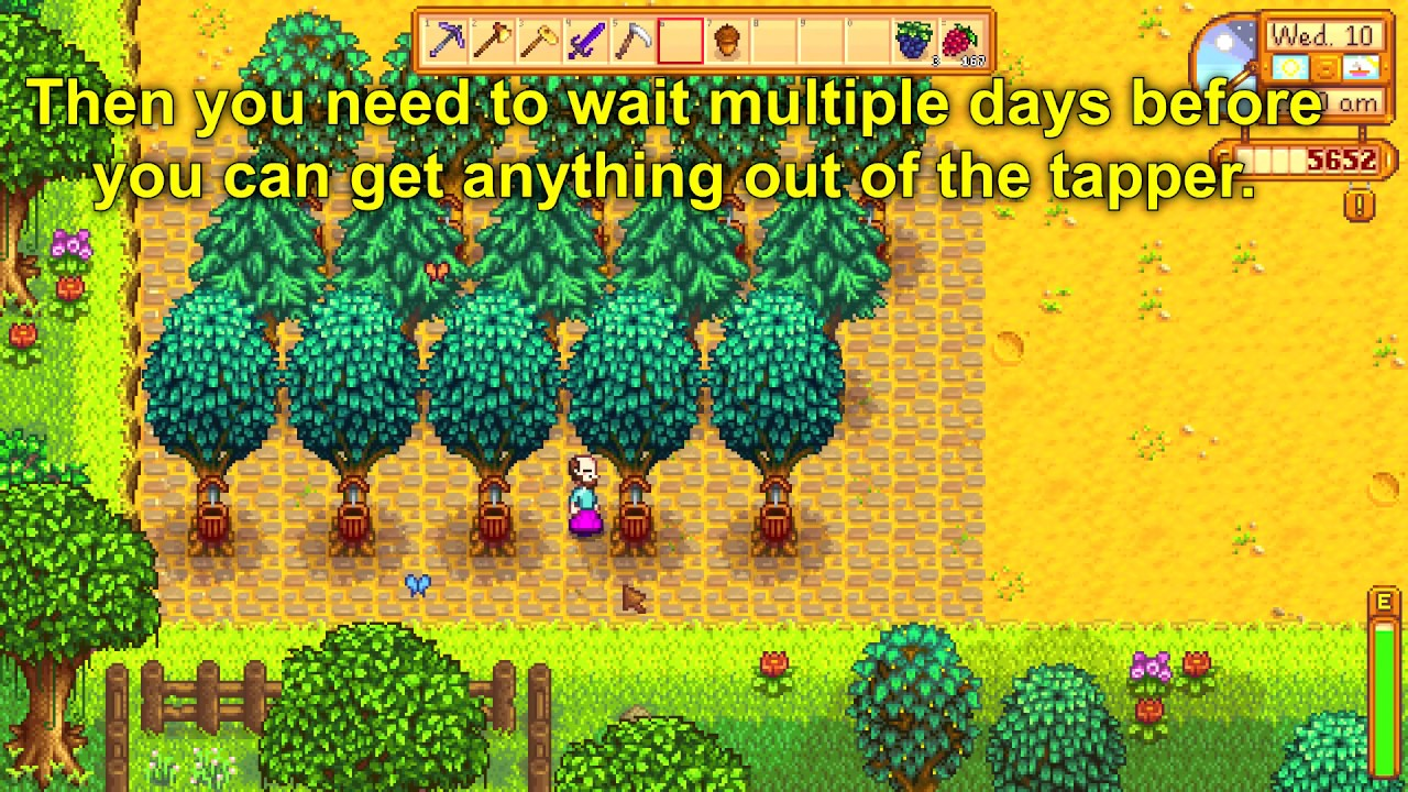 How to put Tapper on a Tree - Stardew Valley 1.4 - YouTube