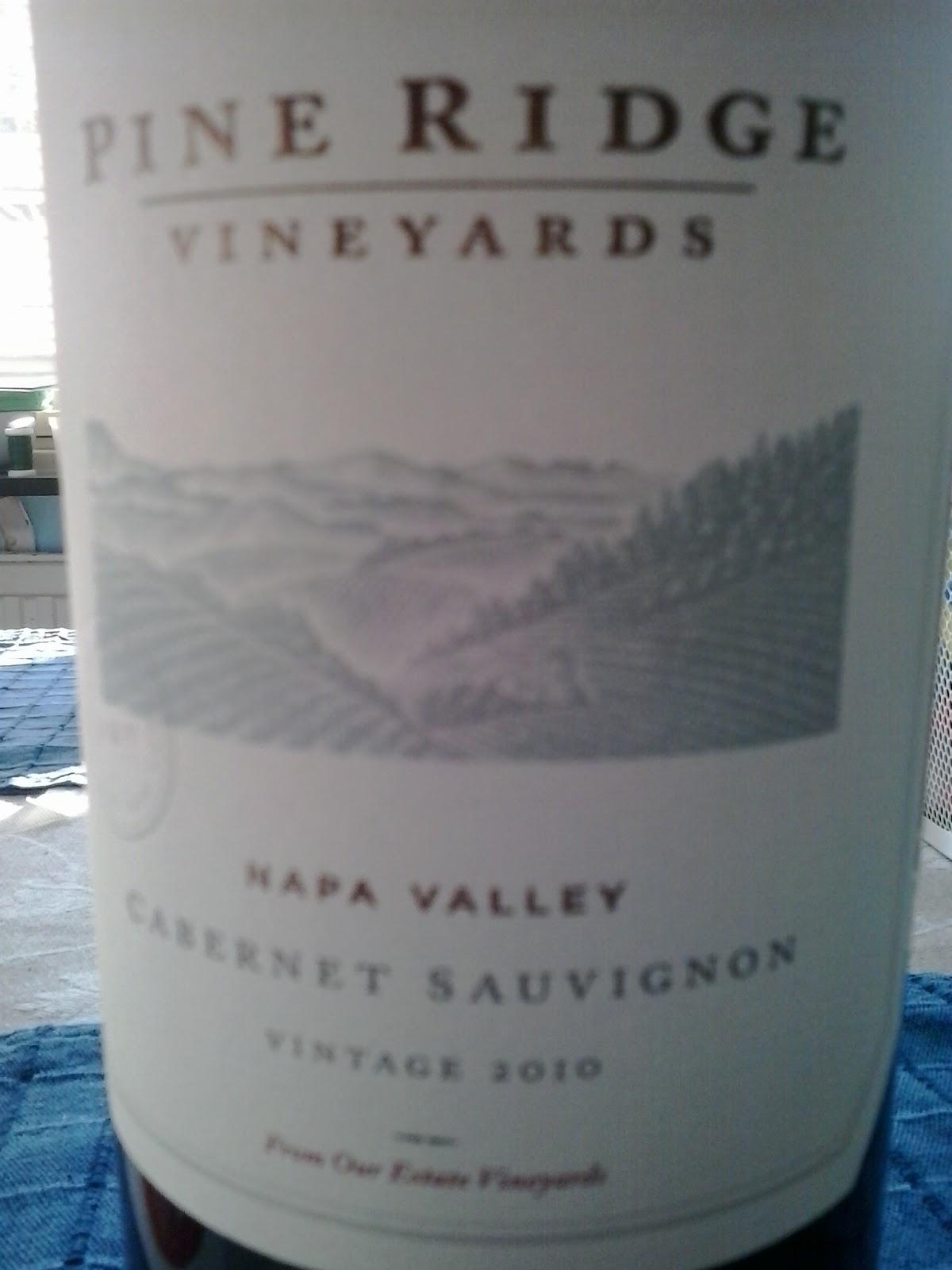 WINE IN SWEDEN: TN : Pine Ridge Vineyards Cabernet ...